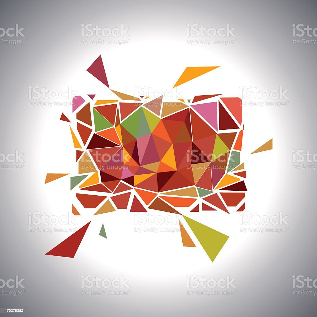 Polygonal Geometric Card.  Vector vector art illustration