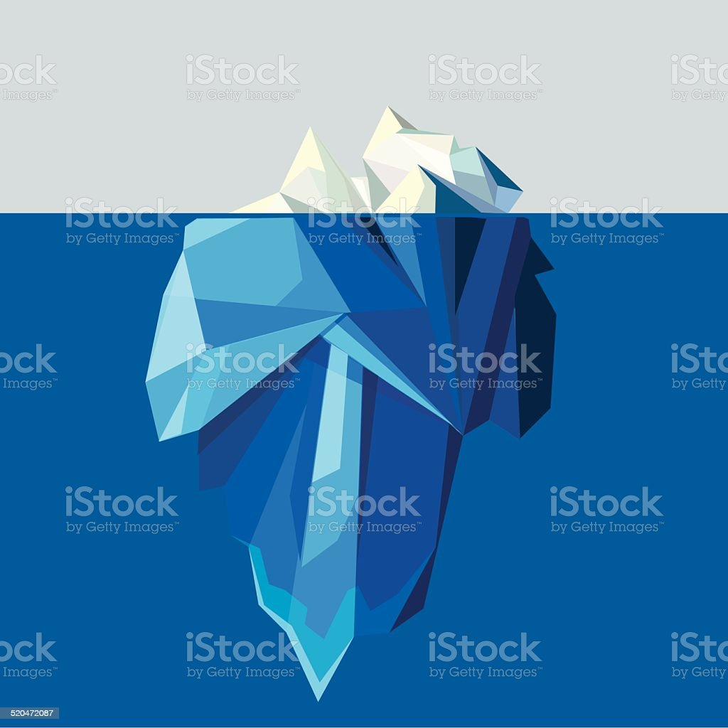polygonal iceberg glacier landscape vector illustration vector art illustration