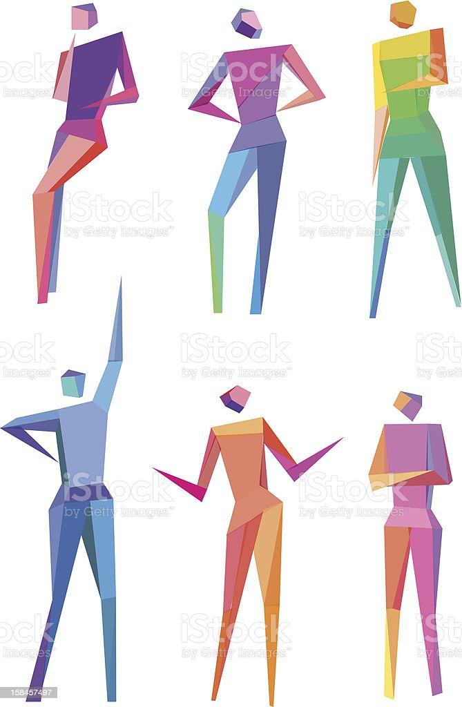 Polygonal People royalty-free stock vector art