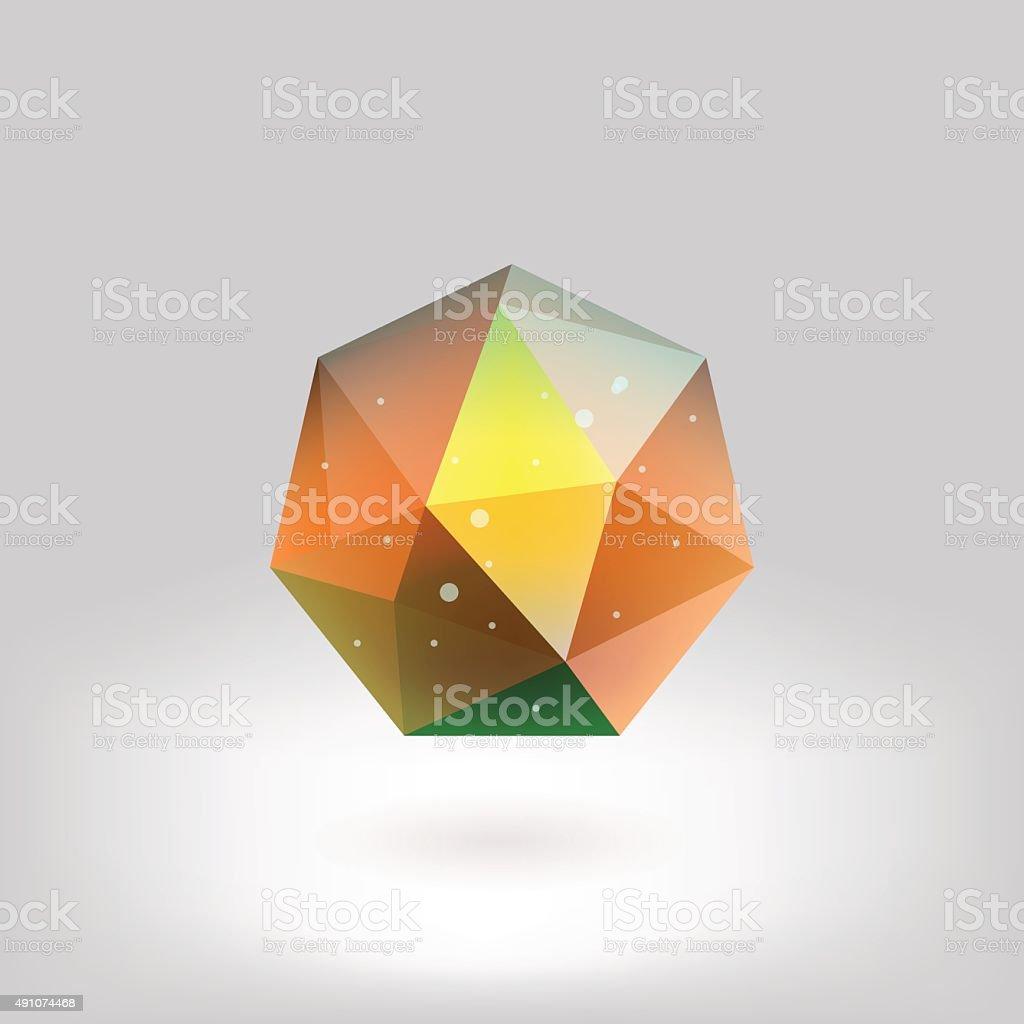 Polygonal shapes vector art illustration
