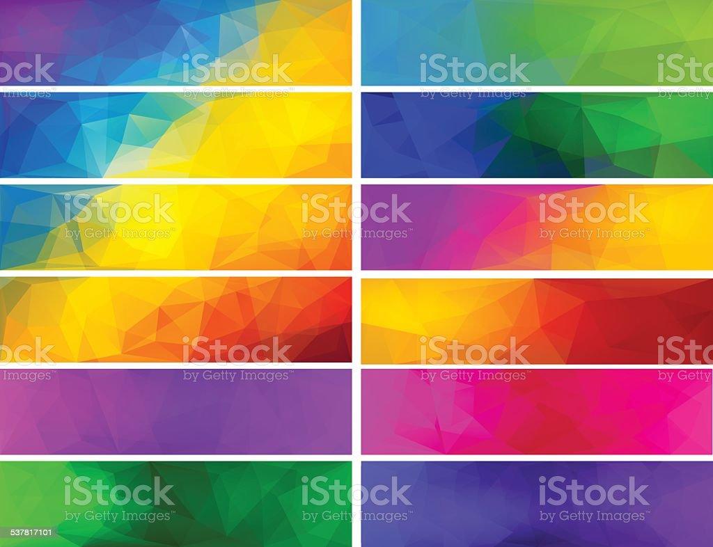 Polygonal vector backgrounds for banner. vector art illustration