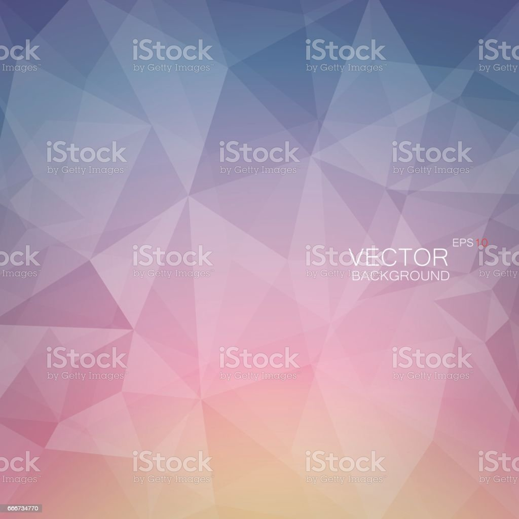 Polygonal vector in the colors of the dawn vector art illustration