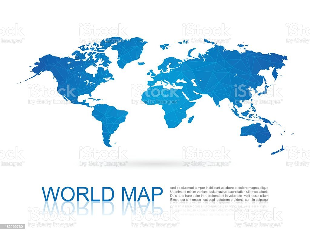 Polygonal World Map,vector vector art illustration