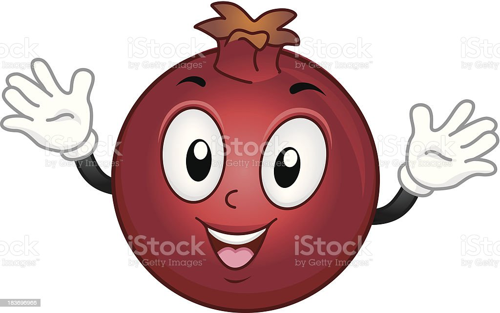 Pomegranate Mascot royalty-free stock vector art