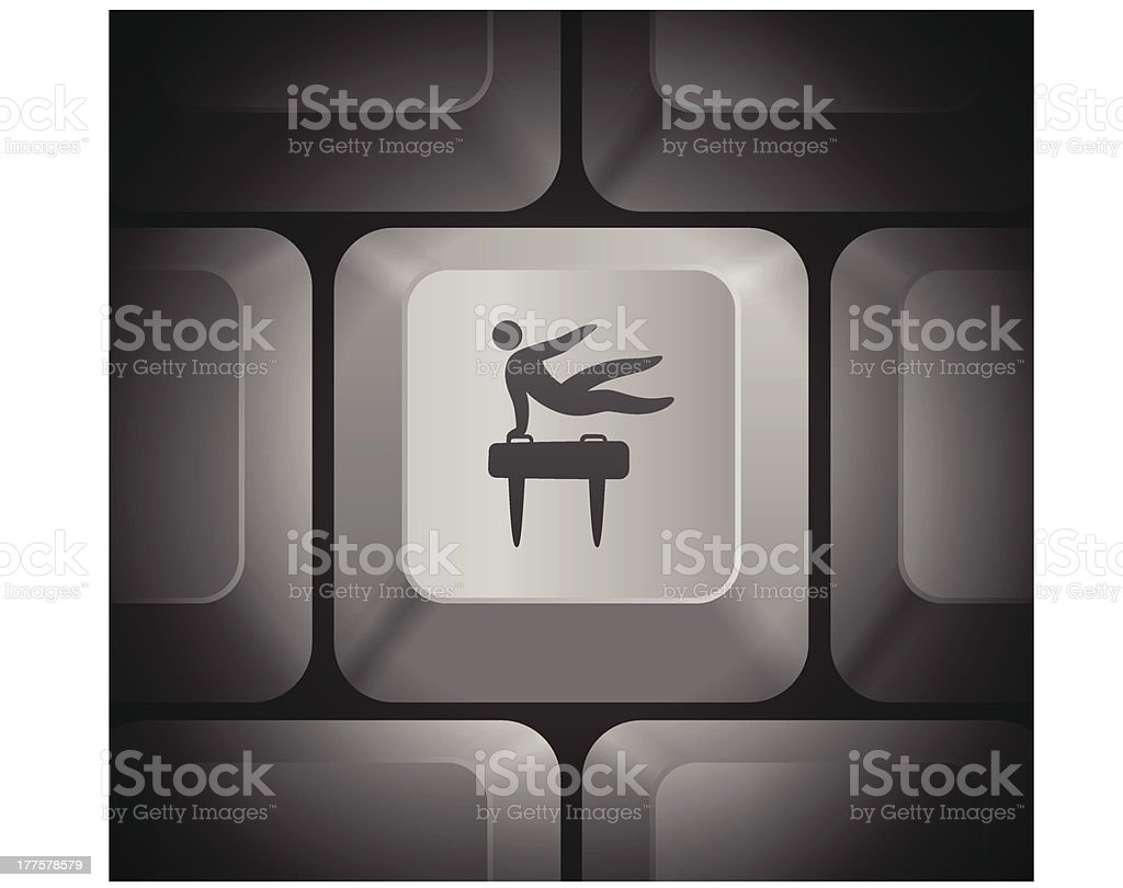 Pommel Icon on Computer Keyboard royalty-free stock vector art