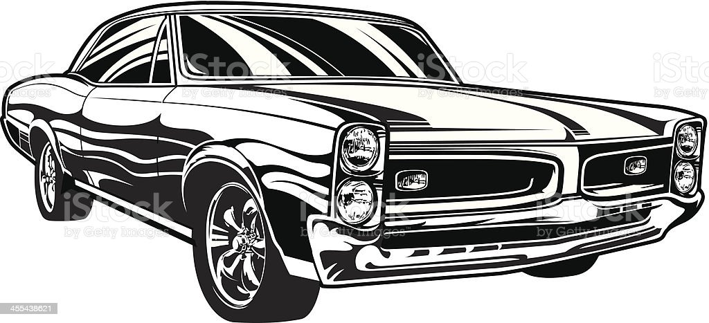 Pontiac GTO vector art illustration