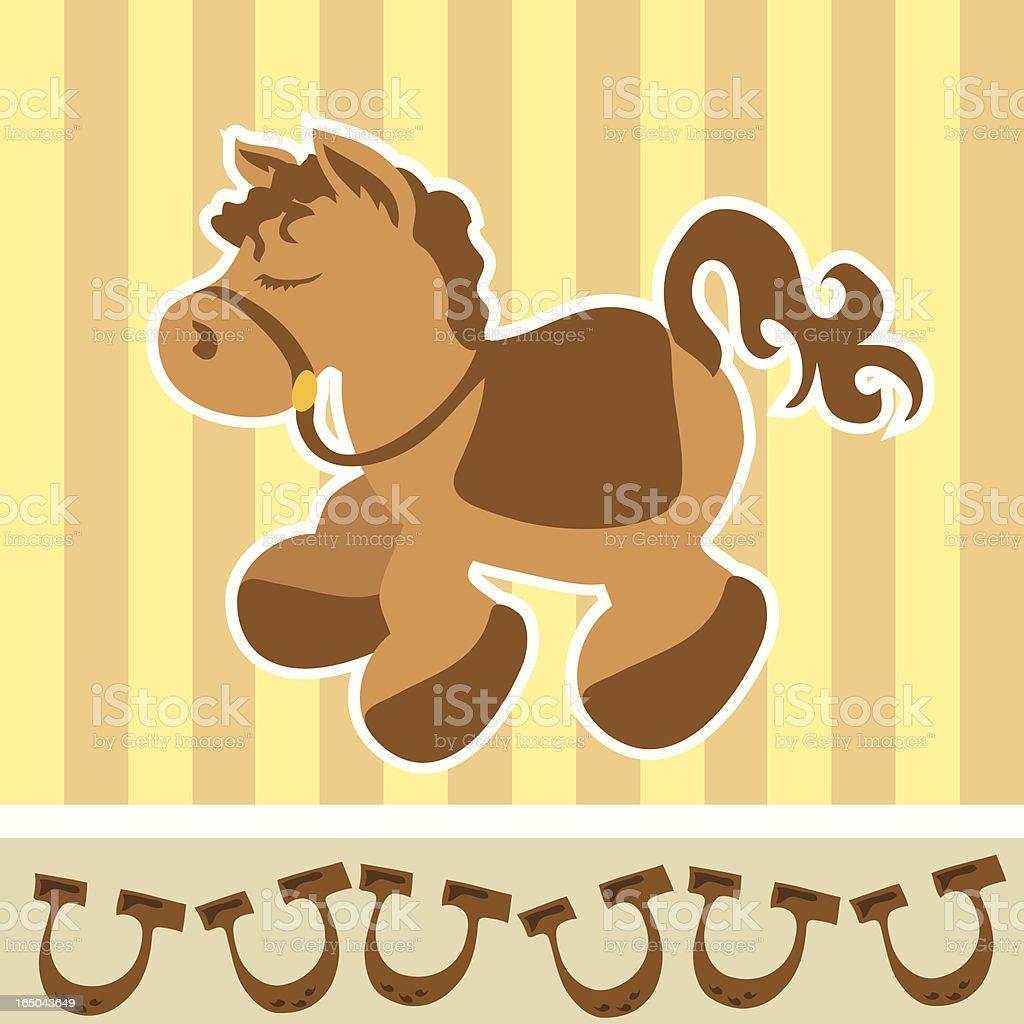 Pony Bedroom Template royalty-free stock vector art