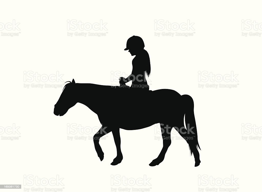 Pony Ride Vector Silhouette royalty-free stock vector art