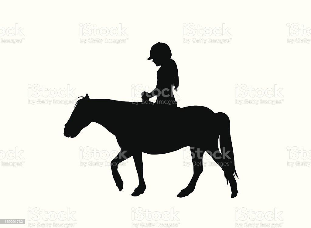 Pony Ride Vector Silhouette vector art illustration