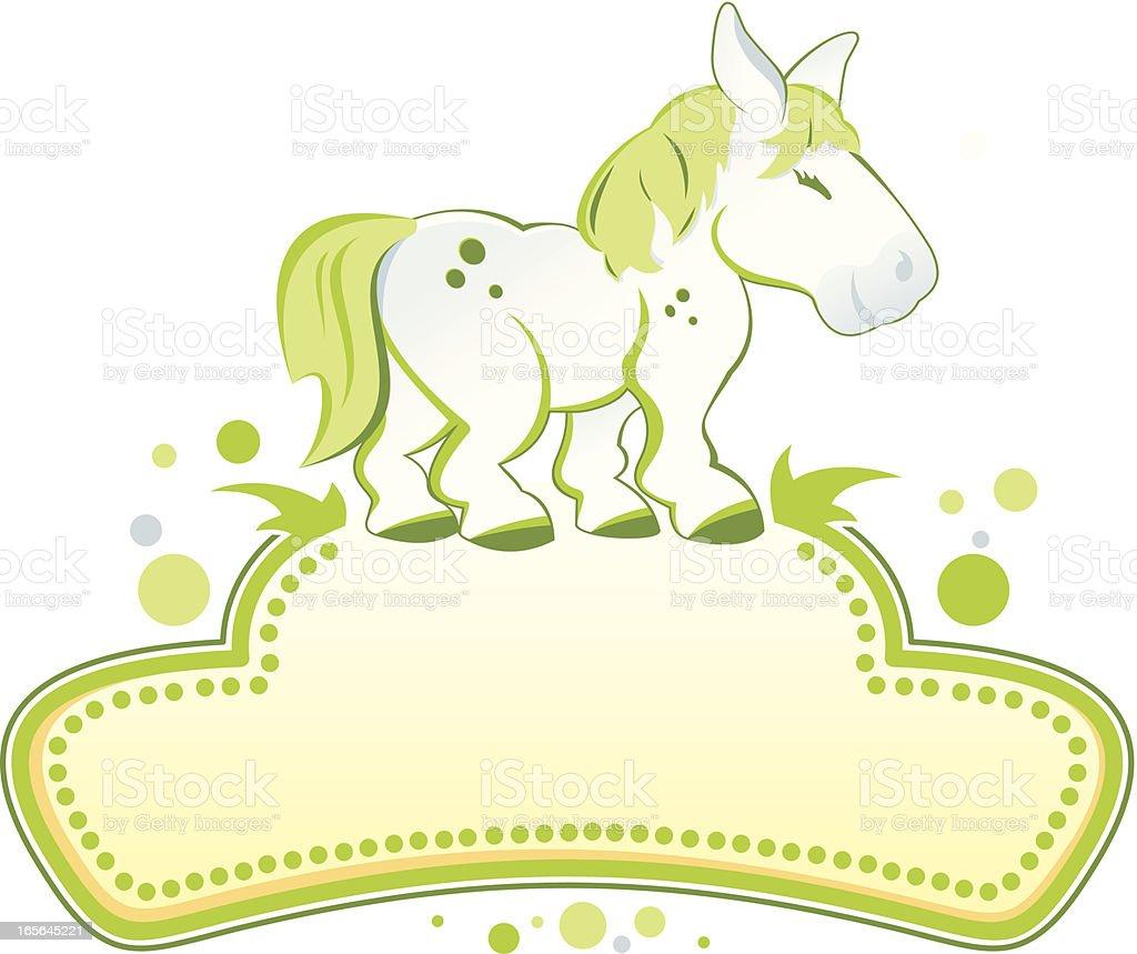 Pony royalty-free stock vector art