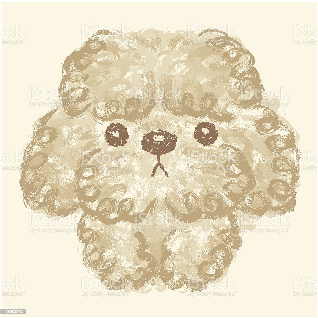 Poodle puppy royalty-free stock vector art