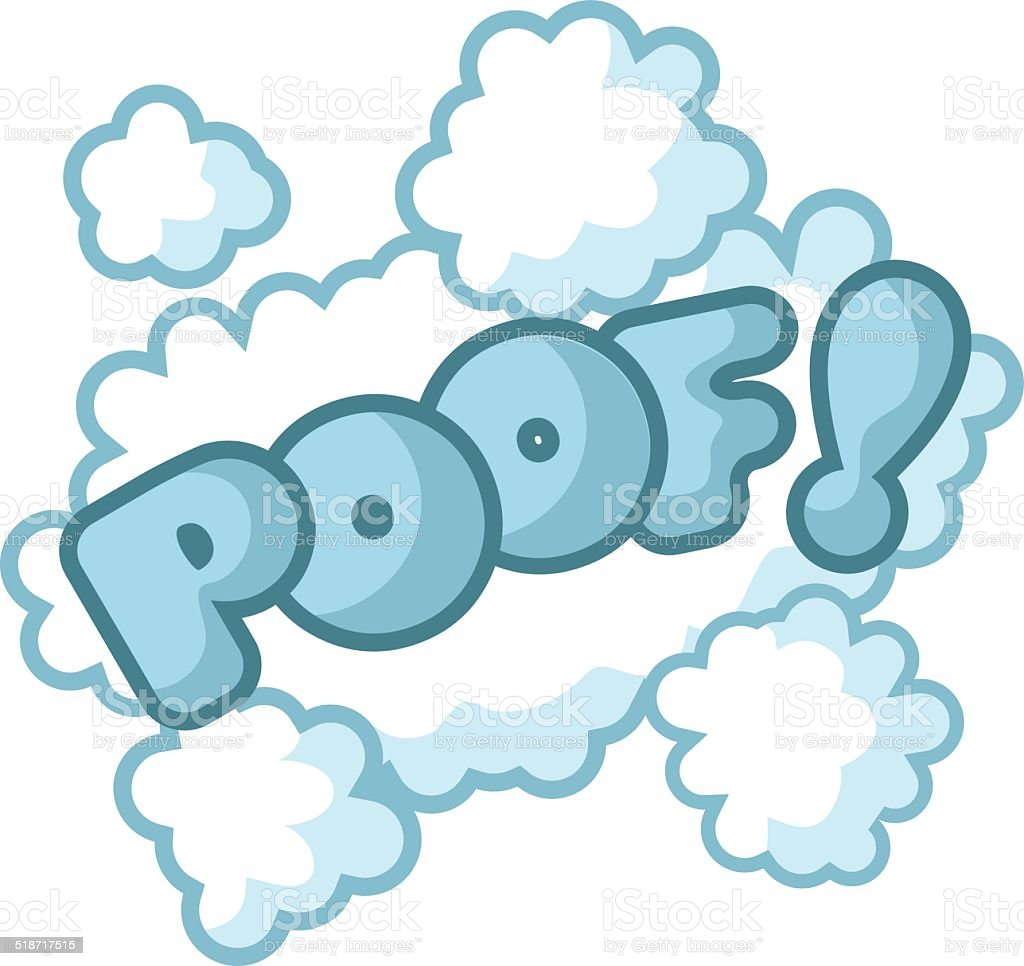 Poof cartoon exclamation vector art illustration