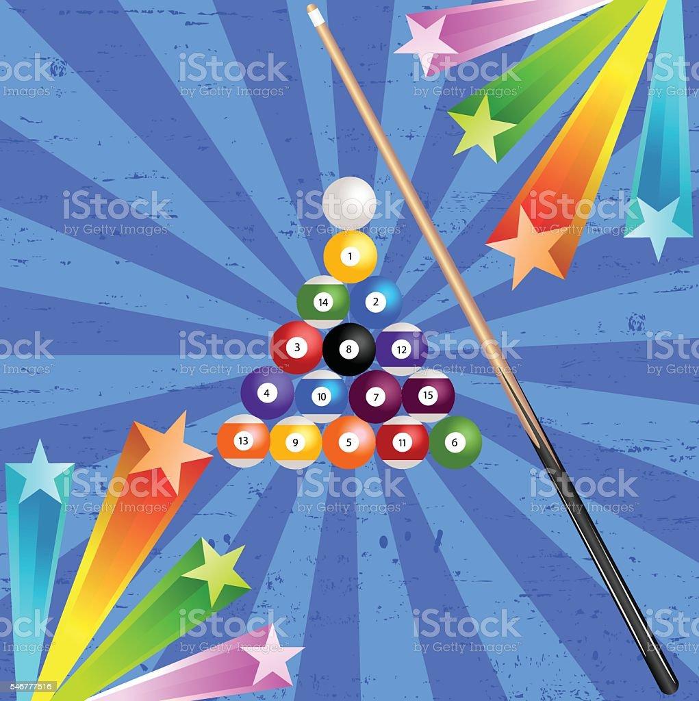 Pool Billiard  Stick Balls With Background vector art illustration