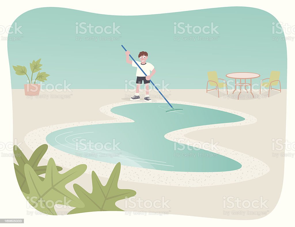Pool Cleaner royalty-free stock vector art