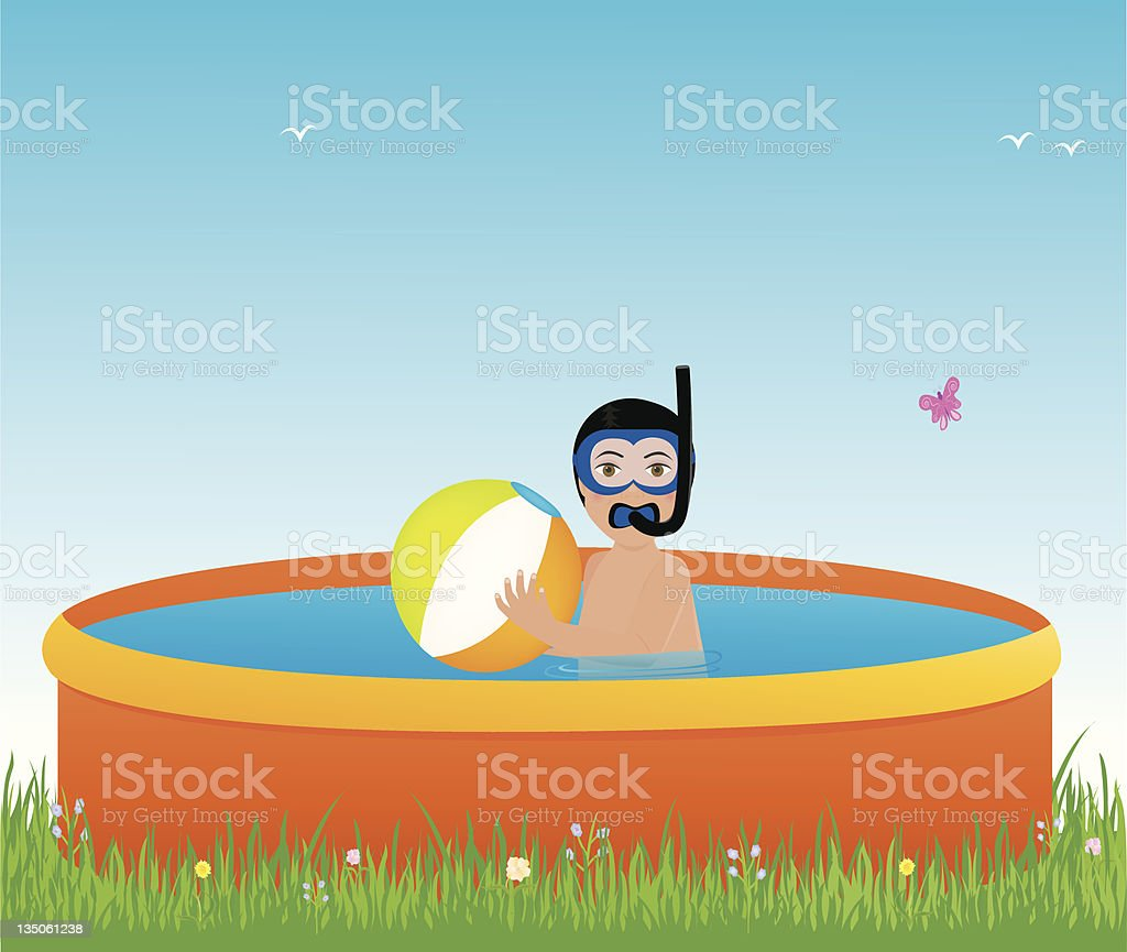 Pool Fun vector art illustration