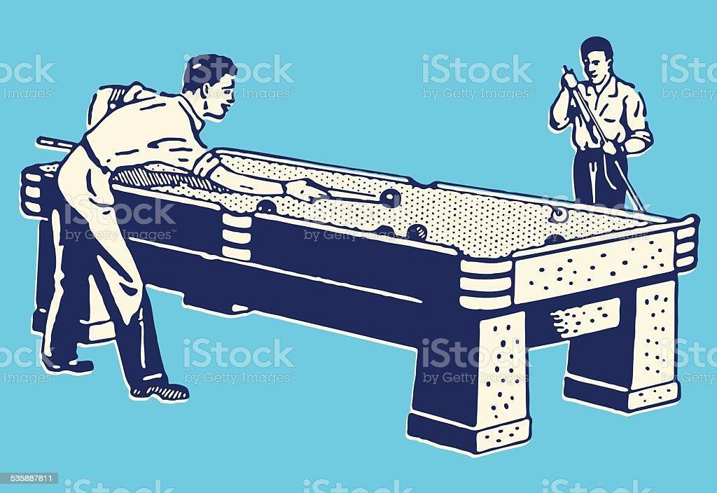 Pool Game vector art illustration