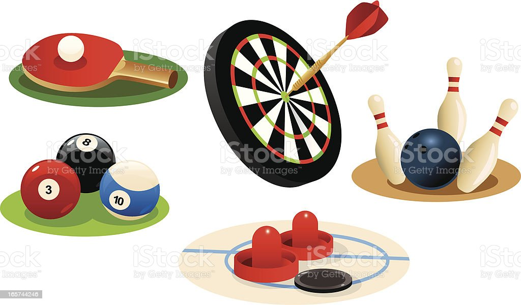 Pool Hall Games royalty-free stock vector art