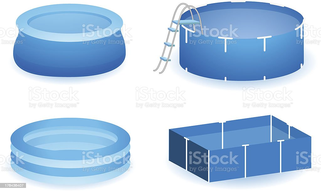 Pool icon set vector art illustration