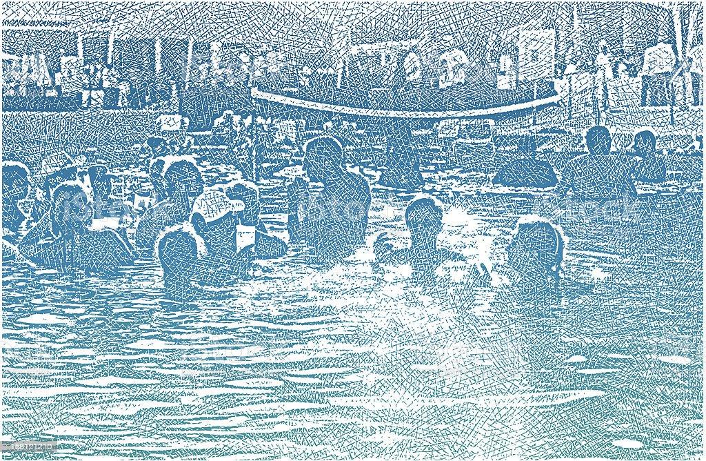 Pool Party Fun royalty-free stock vector art