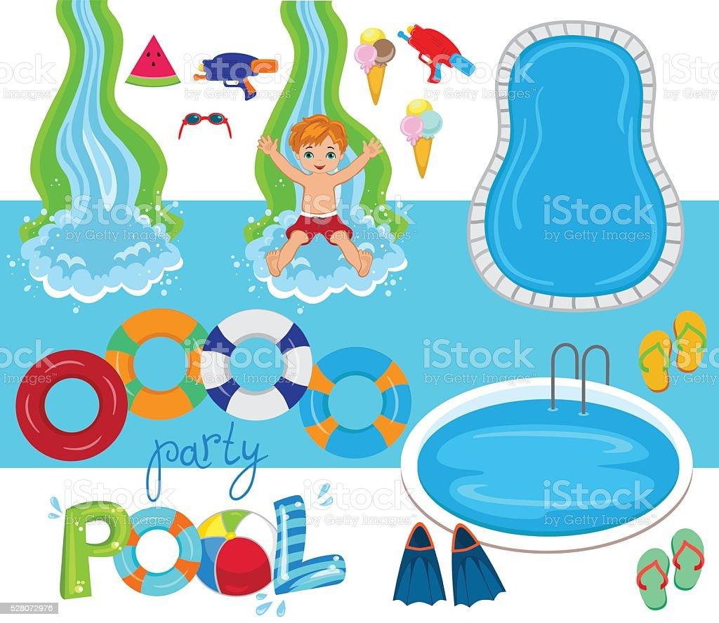 Pool Party Vector Design Illustration. vector art illustration