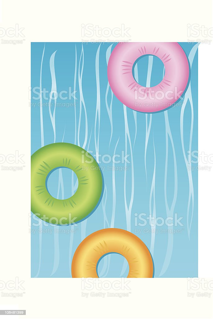 Pool Party vector art illustration