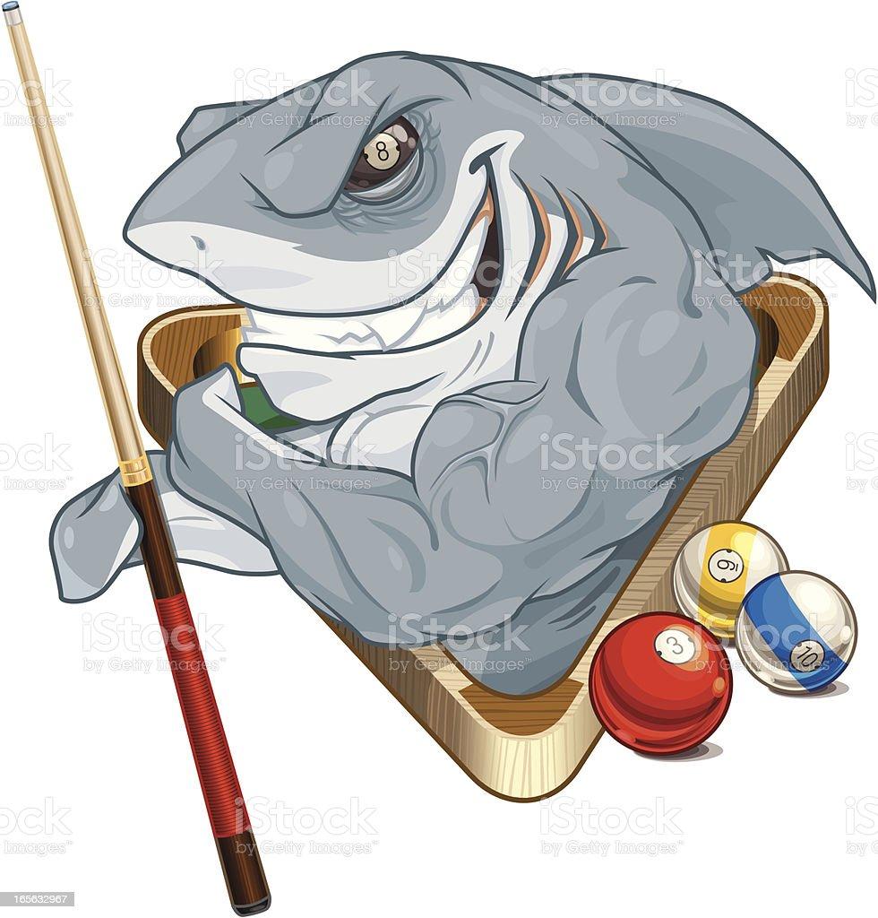 Pool Shark vector art illustration
