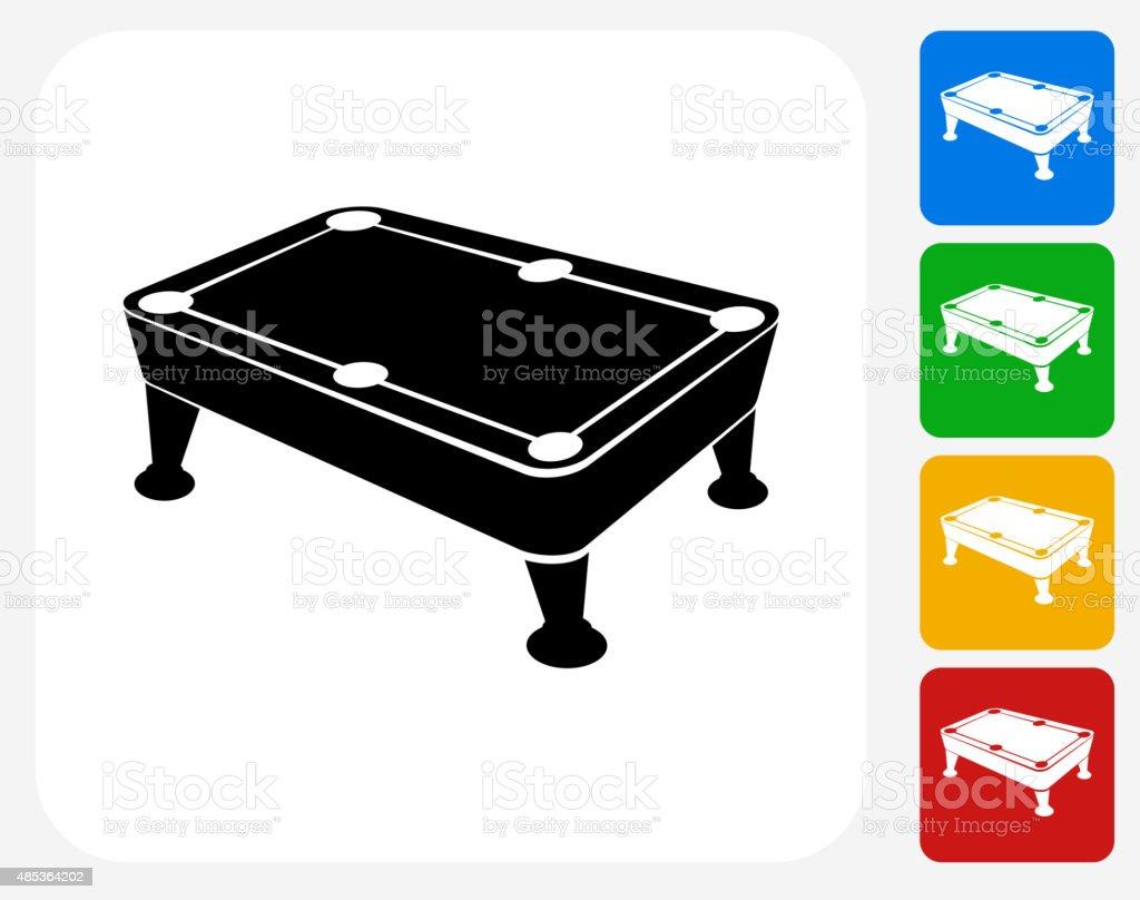 Pool Table Icon Flat Graphic Design vector art illustration