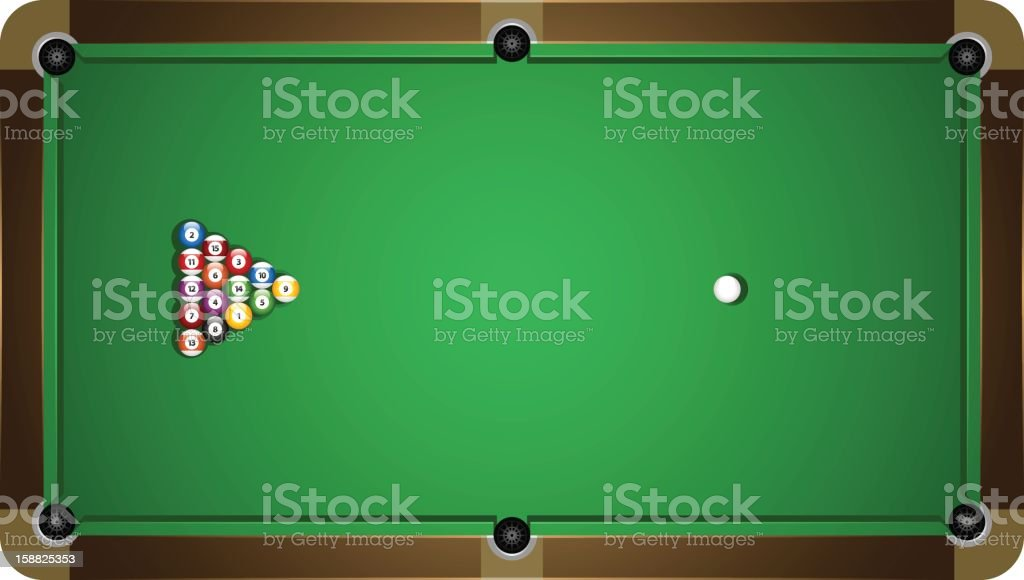 Pool table royalty-free stock vector art