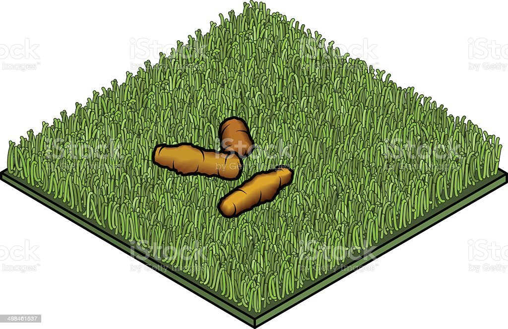 Poop on Grass Tile vector art illustration