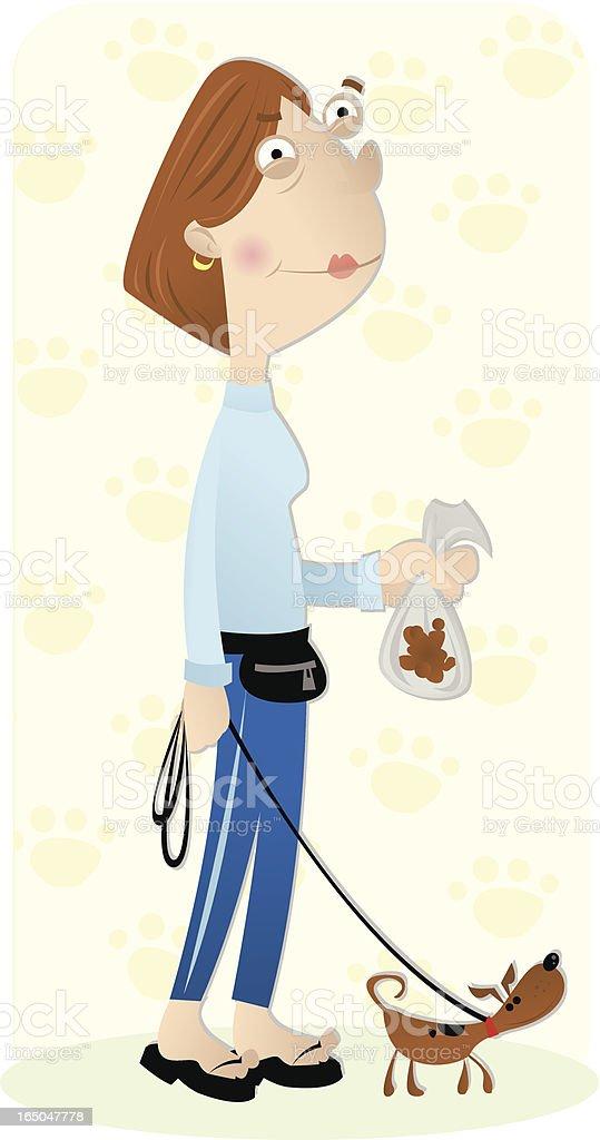 poop & scoop vector art illustration