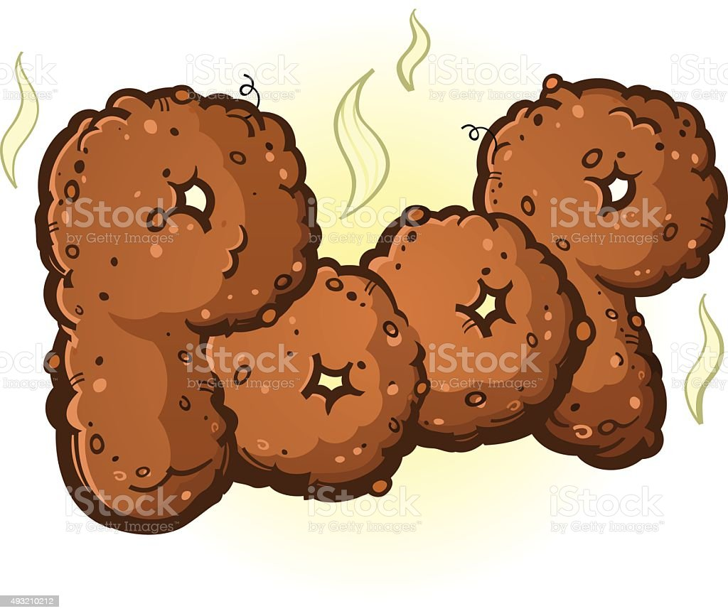 Poop Word made of Turd Letters vector art illustration