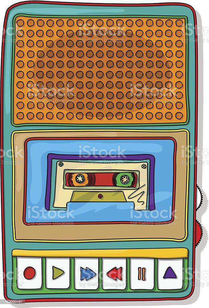 Pop art audio tape recorder royalty-free stock vector art