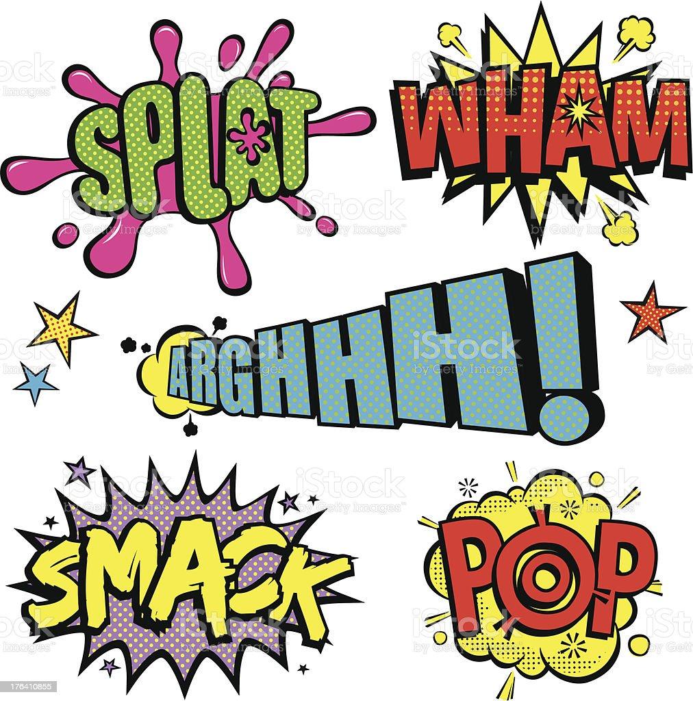 Pop Art Cartoon noises v2 vector art illustration