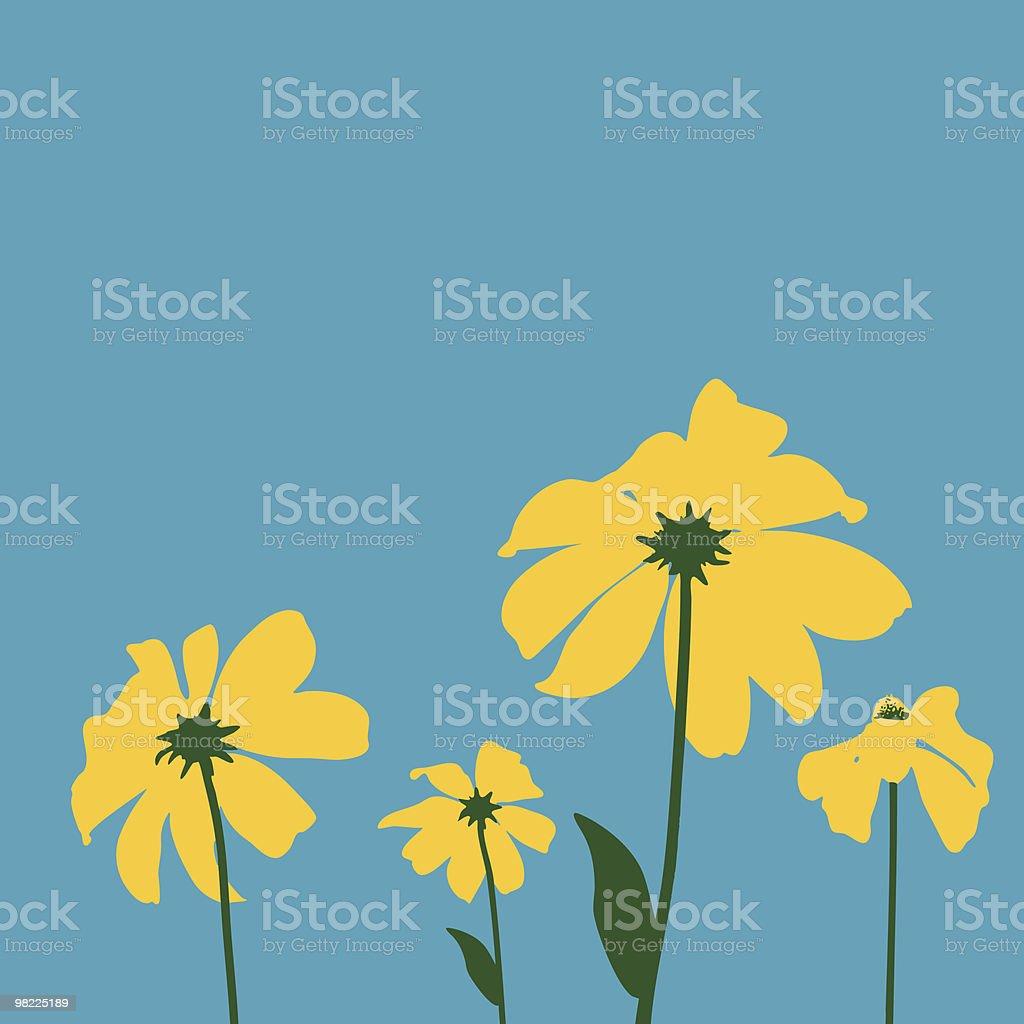Pop Art Daisies royalty-free stock vector art