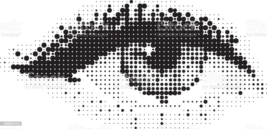 Pop Art eye vector art illustration
