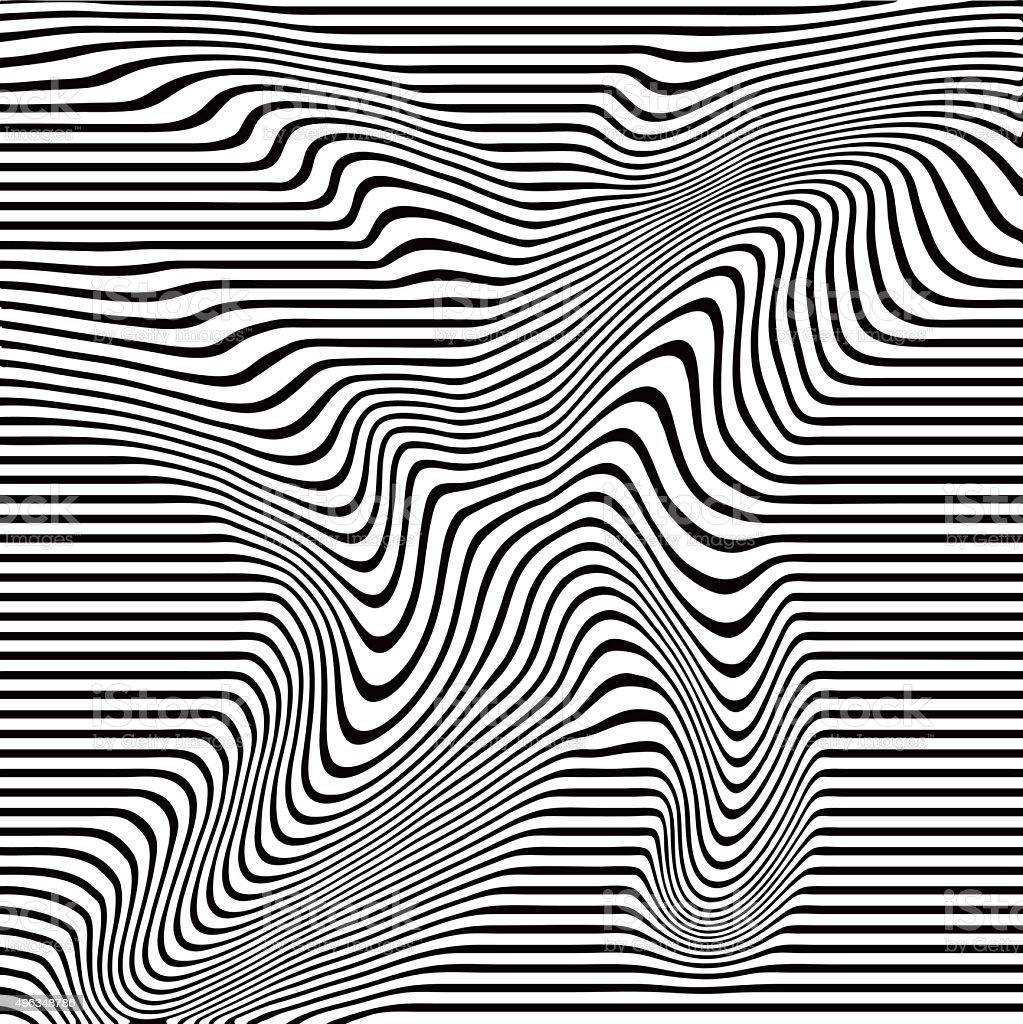 Pop Art Halftone Pattern of Wavy Lines vector art illustration