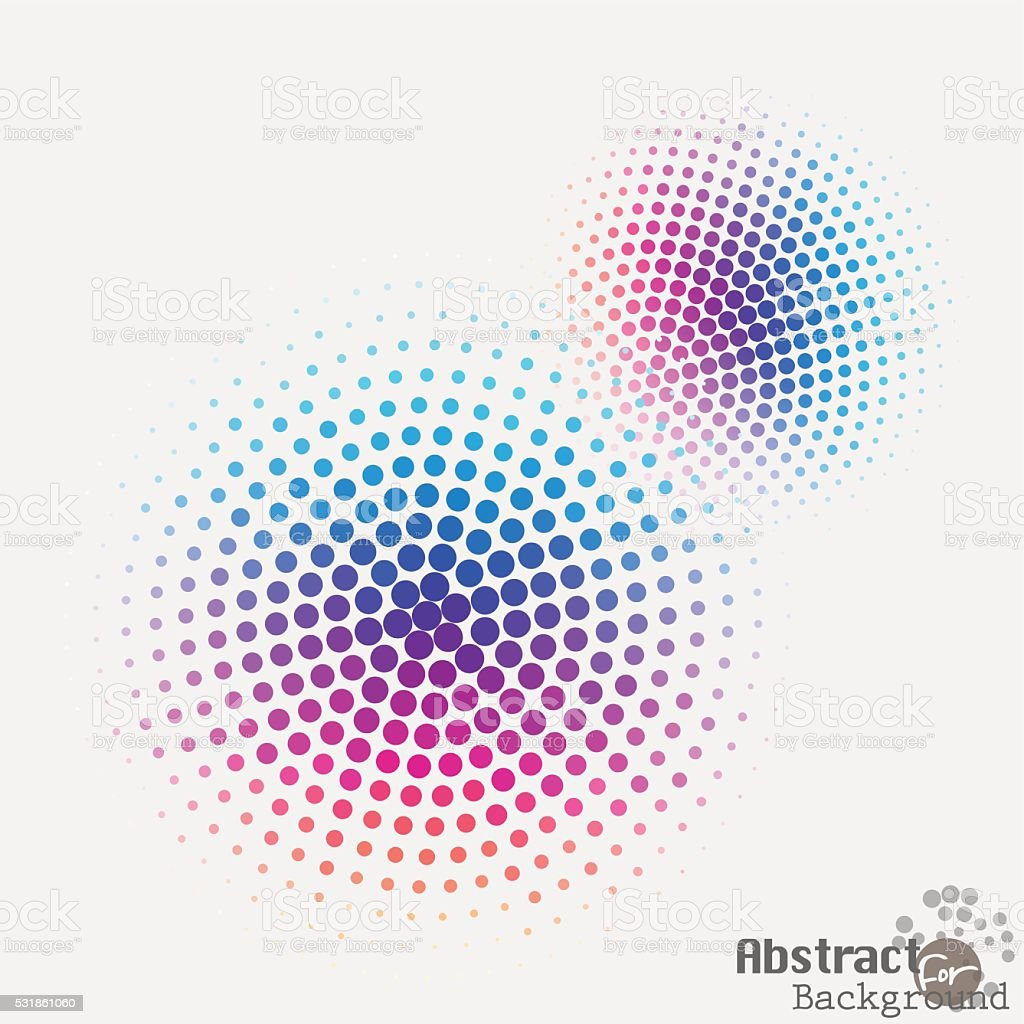 Pop art halftone spotted dotted ecircle. Pop-art vector vector art illustration
