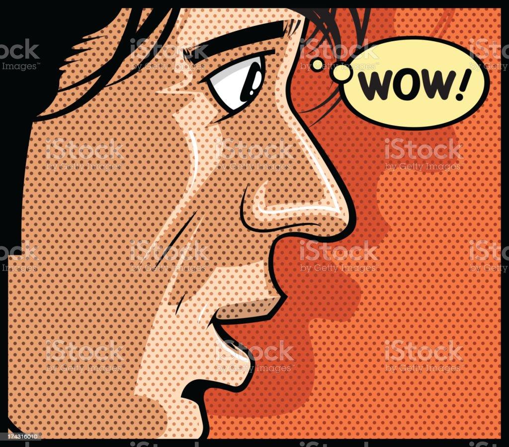 pop art men vector art illustration