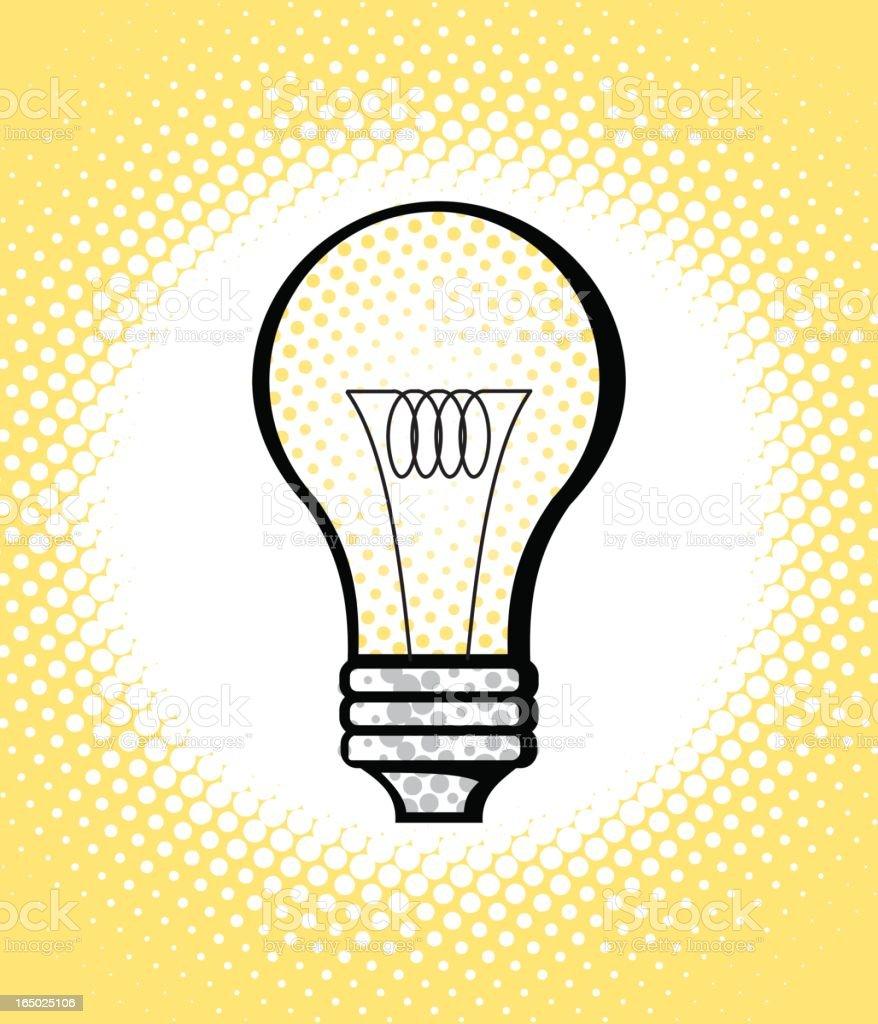 pop art series: lightbulb royalty-free stock vector art