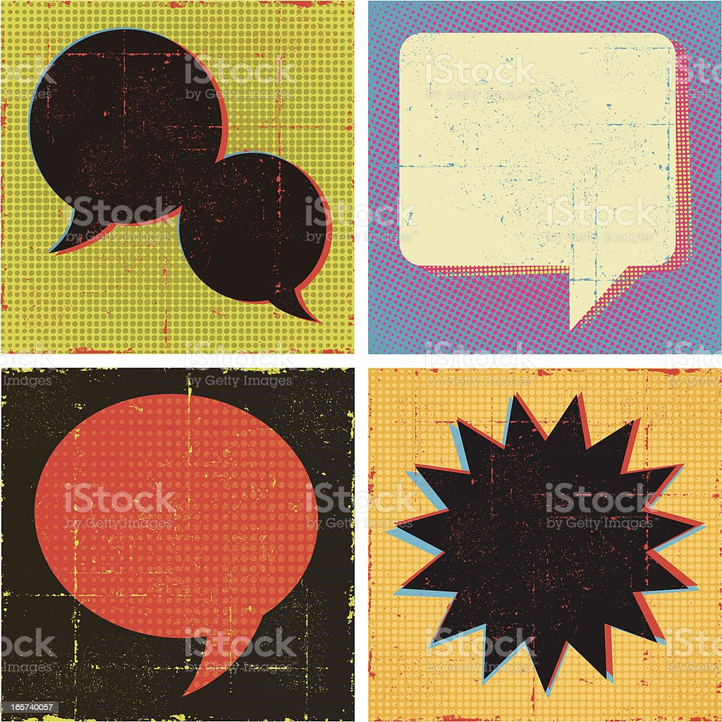 Pop Art Speech Bubble Set royalty-free stock vector art