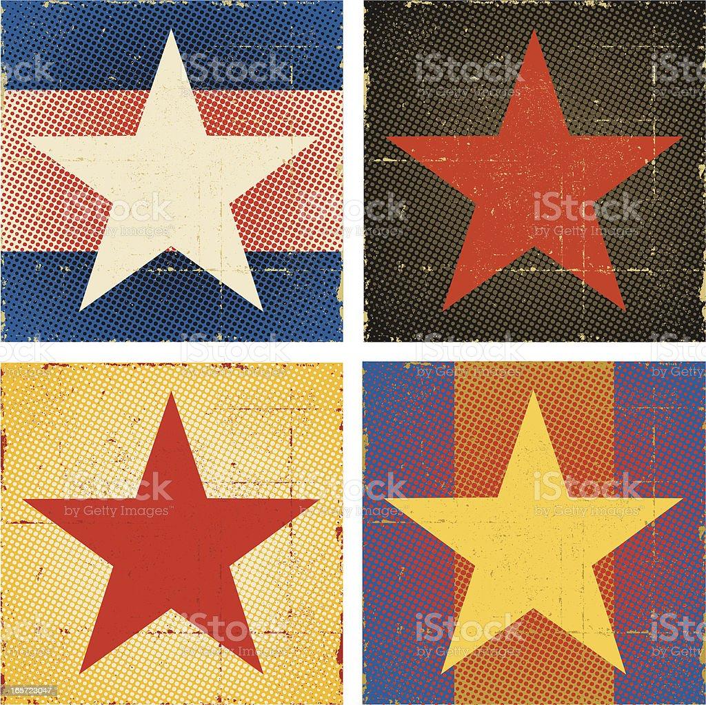 Pop Art Star Set royalty-free stock vector art