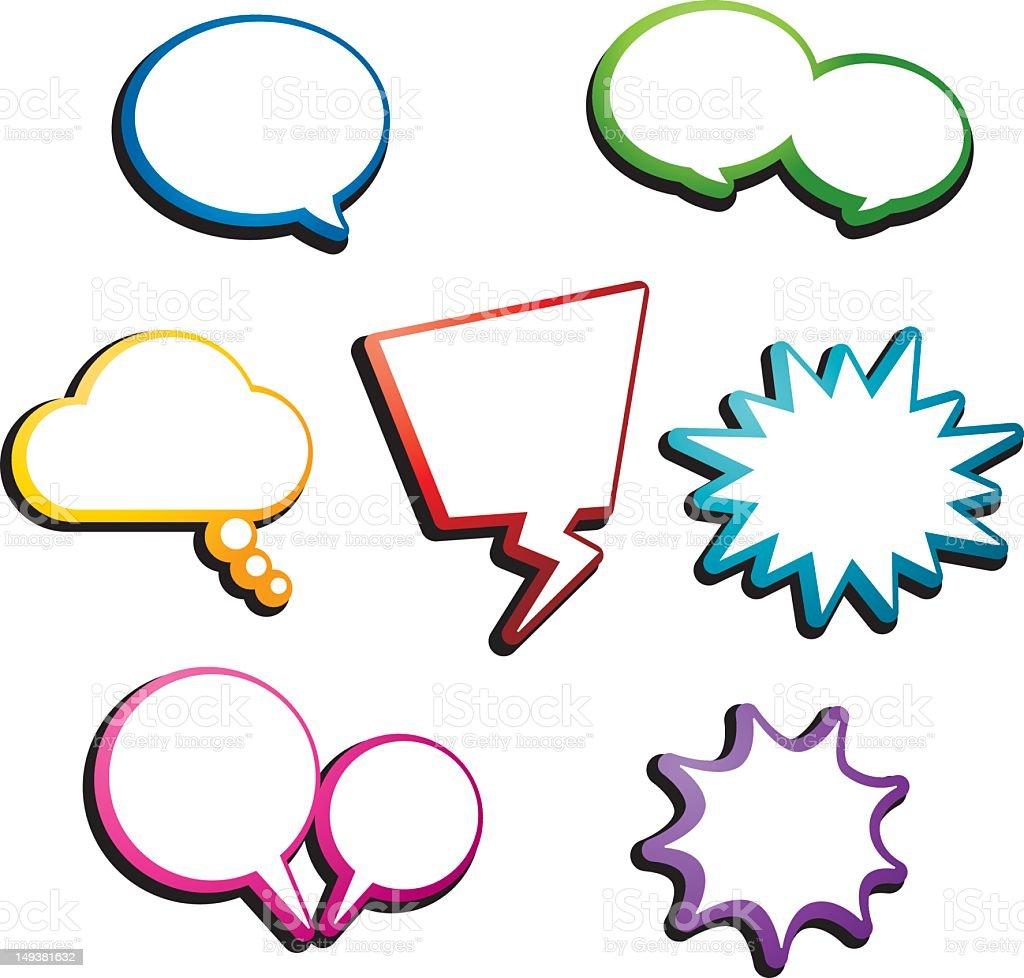 Pop Art Style Colorful Speech Bubble Stock Vector Art 149381632 Istock