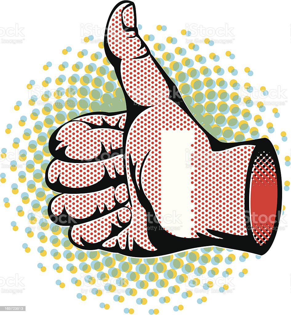 Pop Art Thumbs Up royalty-free stock vector art