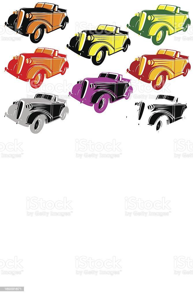 Pop car VI royalty-free stock vector art