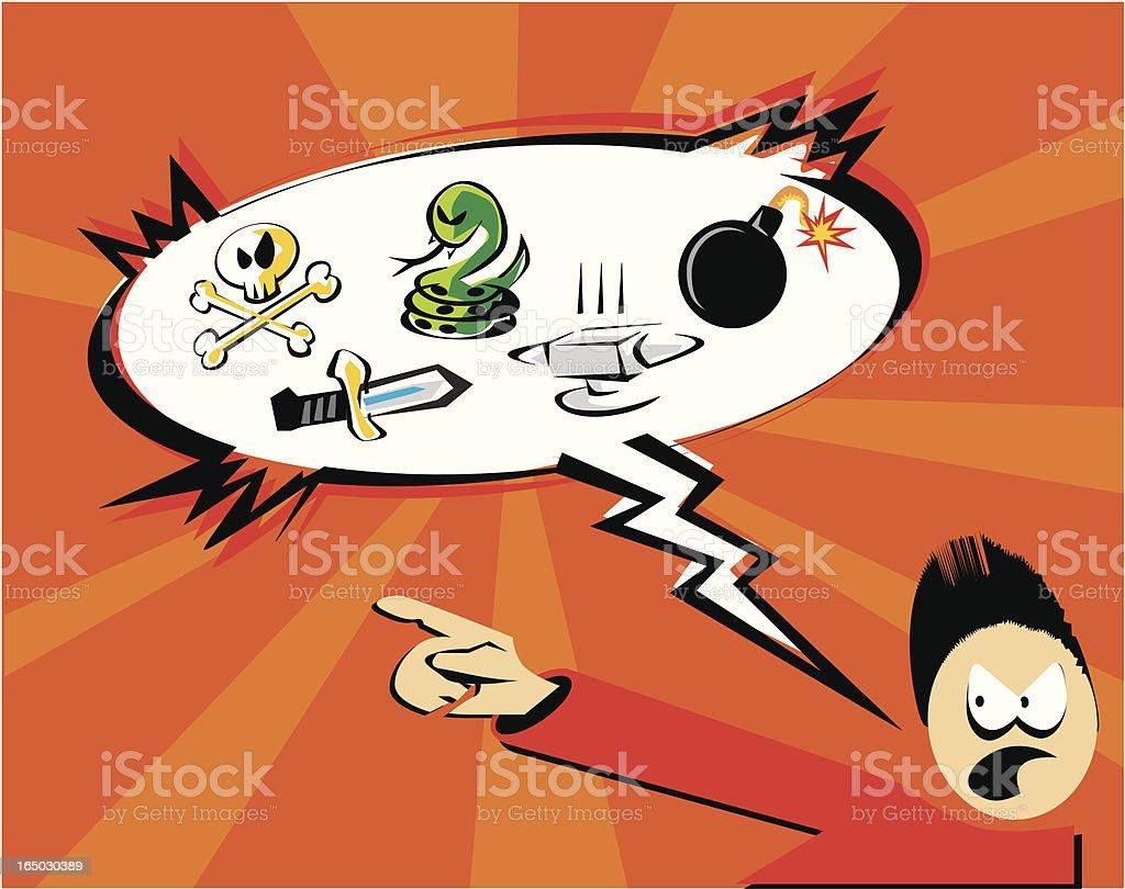 pop cartoon insult vector art illustration