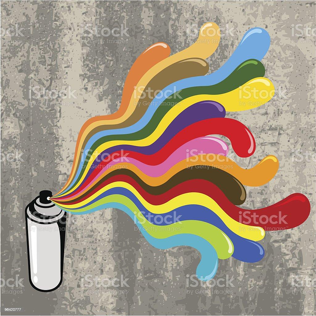 Pop spray can vector art illustration