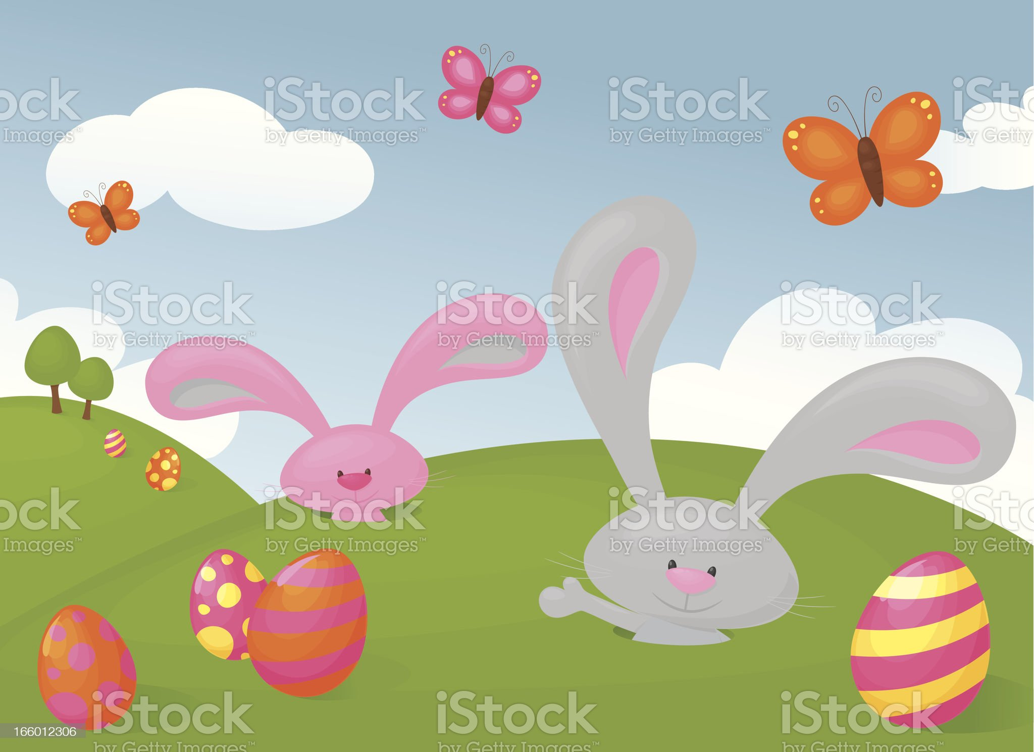 Pop Up Bunny royalty-free stock vector art