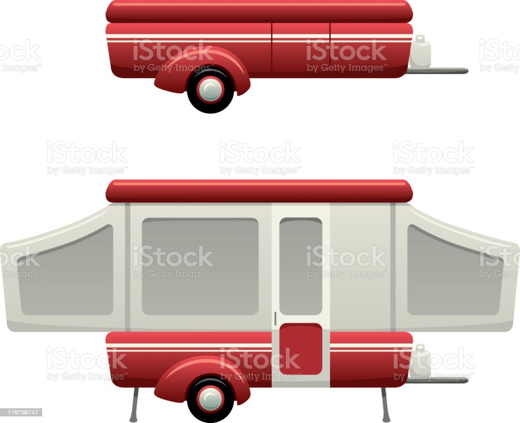 Pop Up Camper vector art illustration