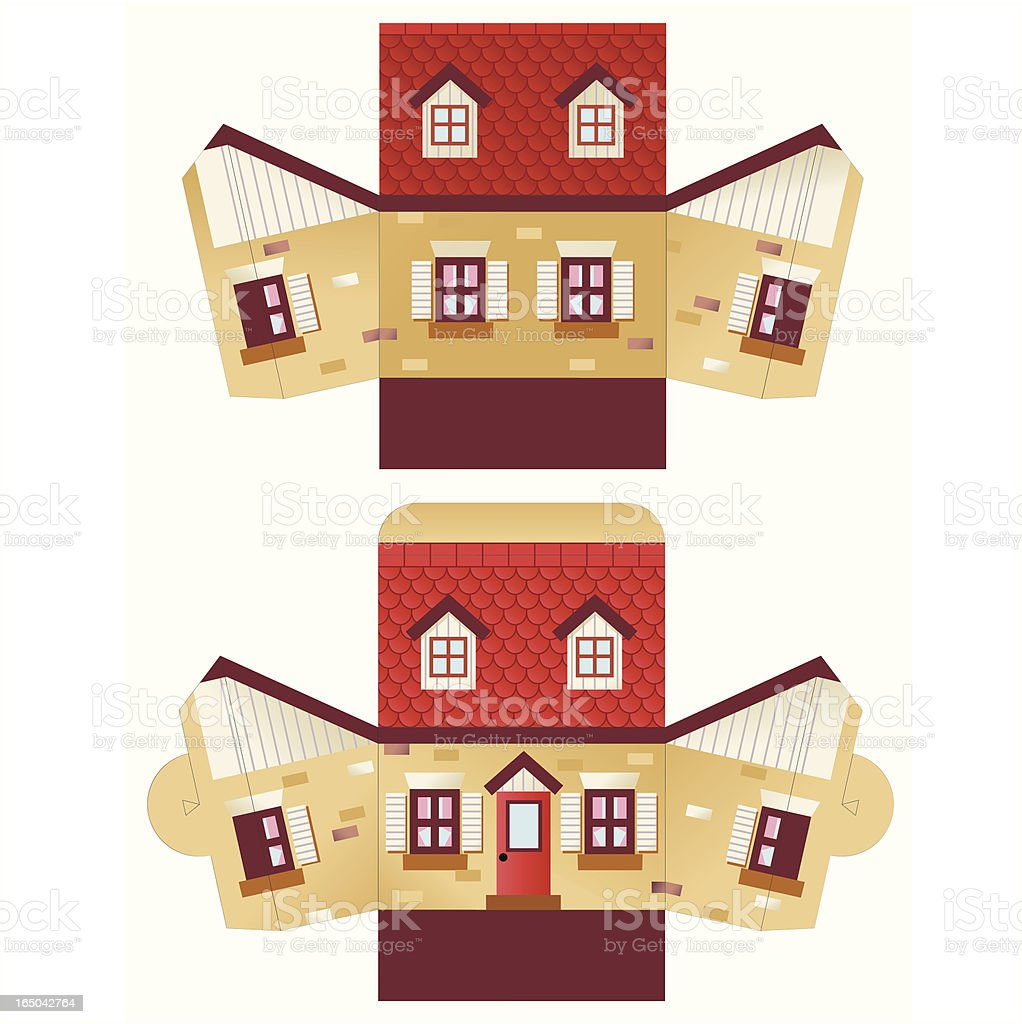 Pop Up House royalty-free stock vector art