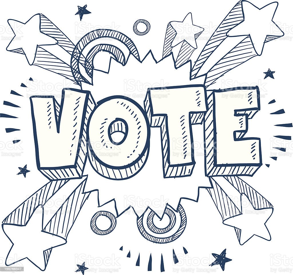 Pop vote in the election sketch royalty-free stock vector art